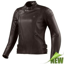 REV'IT! BELLECOUR LADIES Mujer Chaqueta De Cuero Motocicleta City marrón Revit