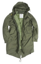 US ARMY M51 FISHTAIL PARKA COLD WEATHER COAT WITH SYNTHETIC WOLF FUR HOOD TRIM