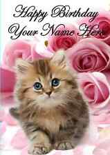 Kitten Card PID274  All Occasions Personalised Greeting Card Birthday Mum Dad