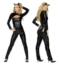 COSTUME CATWOMAN GATA CATWOMAN LINGERIE SEXY COSTUME CARNEVALE HALLOWEEN (9257)