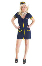 Donne Mile High Capitano Hostess Costume Flight Da Pilota Taglie Forti