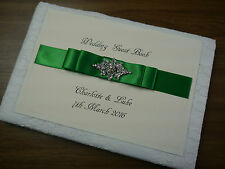 Personalised Guest Book, Wedding, embellishment,Vintage, Lace, Any Colour Ribbon
