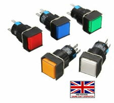 New LED Light Push Button Switch square DC 12V Momentary Latching 19mm x 19mm