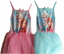 DISNEY FROZEN DRESS SUMMER DRESS OUTFIT TOP ANNA ELSA AGE 3-8Y BNWT 100% COTTON