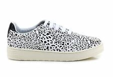 ORIGINALI  JEFFREY CAMPBELL JC PLAY  LACE UP LEO NEW SNEAKERS SCARPE DONNA NERE