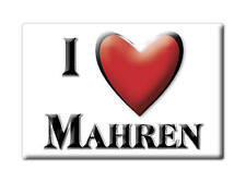 SWITZERLAND SCHWEIZ SOUVENIR NEW GIFT FRIDGE MAGNET CUISNEOIR I LOVE MAHREN