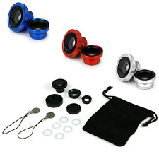 Universal 3in1 Clip On Camera Lens Kit Fisheye +Wide Angle +Macro for Cell