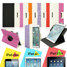 For Apple iPad 2 3 4 AIR 360 Rotating Magnetic PU Leather Case Smart Cover