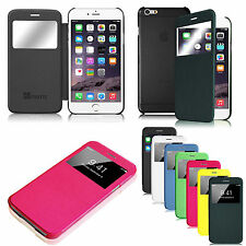 """For Apple iPhone 6 Plus (5.5"""") Flip Leather Slim Fit Hard Back Shell Case C"""