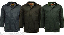 GAME MEN'S COTTON WAX PADDED JACKET BRITISH COUTRY QUILTED RAIN COAT WITH HOOD