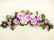 Wedding Artificial Silk Flowers Rose Hydrangea Swag / Slim Table Centrepiece