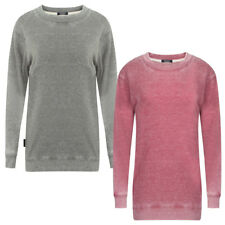 Womens Tokyo Laundry Tamara Ladies Washed Out Long Sleeve Jumper Top Size 8-16