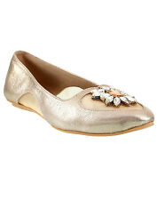 Siendo Desi In Vogue Ballerinas Flats Gold Slip-On