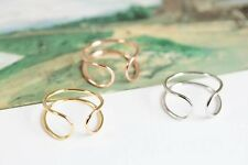 Adjustable stackable ring. Midi ring, Finger, thumb ring Gold, Rose Gold, Silver