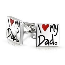Mens Pair of Novelty I Love My Dad Cufflinks Cuff Links Fathers Day UK Seller