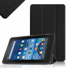 "Amazon Kindle Fire 7 7"" 5th Gen 2015 Ultra Slim Trifold Leather Case Cover"
