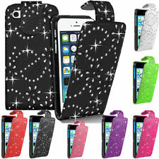 Diamond Bling PU Leather Flip Case Cover For Samsung i8190 Galaxy S3 Mini