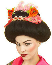 Luxery Geisha Wig Ladies Fancy Dress Japanese Hostesses Dance Deluxe