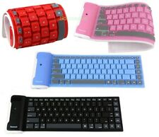 Keyboard Silicone Flexible Waterproof Wireless Bluetooth PC IOS iPad Android