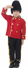 Boys Busby British English Red Army Soldier Guard Uniform Fancy Dress Costume