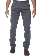 Eto Mens Designer Black Navy Grey Tapered Fit Chino Jeans Smart Casual Trousers