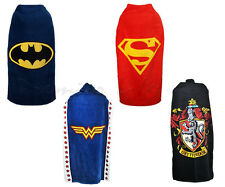 Superhero Character Cape Towels - Batman, Superman, Wonder Woman, Harry Potter