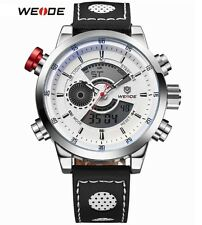 RELOJ WEIDE 3401 DUAL DEPORTIVO MILITAR LED DIGITAL Sport Watch Leather Quartz