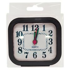 QUARTZ ALARM CLOCK TRAVEL ALARM CLOCK ANALOGUE ASSORTED COLOURS