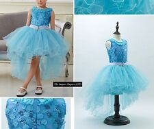 Vestito Cerimonia Compleanno Bambina Elsa Girl Elsa Party Dress 2-10 Y 00065