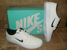 New Nike Portmore Canvas Casual Athletic/Skateboarding Shoe/White-Black $7