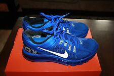NIKE MEN'S AIR MAX+ 2013 RUNNING SHOES HYPER BLUE WHITE BLACK 554886 411 18