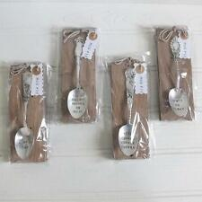 MUD PIE Antique Silver Plated COFFEE SPOON Stamped Phrase GIFT