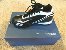 REEBOK Mens Black White Cleats Football NFL Electrify ATF Athletic Shoes -