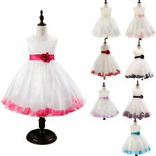 New Flower Girl Tulle Lace Tutu Dress Princess Wedding Summer Party 8 Colors