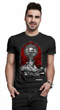 Daryl Dixon Stained Glass Walking Dead oficial Camiseta para hombre unisex