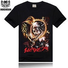 T-shirt Slayer Rock Band Maglietta maniche corte uomo Mens t-shirt tee Slayer02