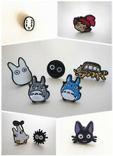 Ghibli Studio Grey White Totoro Catbus Soot Spirit Ponyo Jiji Cat Stud Earrings