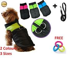 Small &Large Waterproof Pet Dog Puppy Coat Jacket Winter Quilted Padded Puffer