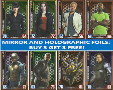 TOPPS MARVEL HERO ATTAX CINEMATIC UNIVERSE CHOOSE MIRROR AND HOLOGRAPHIC FOILS