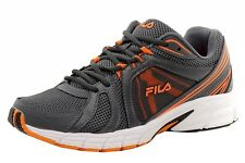 Fila Men's Gravion Castlerock/Orange/Black Athletic Running Sneakers Shoes