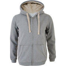 Mens Hoodie Brand New Grey Zip Up Sherpa Lined  Quality Men's Sweatshirts Hoodie
