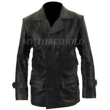 NEW MEN'S Dr Who TV Series Eccleston Black Leather Jacket/Coat