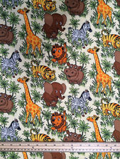 Jungle Zoo Fabric 2  *** 100% Cotton *** Free postage***
