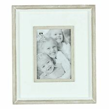 Personalised White Wooden Photo Frame with White Washed Trim FW970 4x6 5x7 8x10