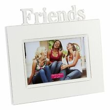 "Personalised - Friends Vintage Effect White Wooden 6"" x 4"" Photo Frame Engraved"
