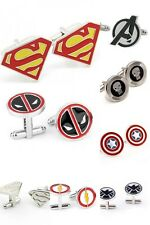 Mens Pair of Super Hero Superheroes Cufflinks Cuff Links Marvel UK gift bag