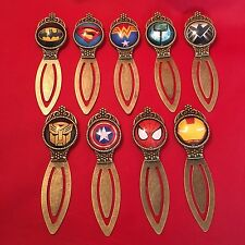 Superhero Quality Metal Bookmark Batman Superman Spider-Man Thor Iron Man *NEW*