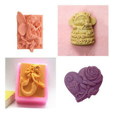 Flower Cake Soap Mold Flexible Silicone Mold Candy Chocolate Mould Cookies