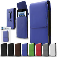 Premium Leather Vertical Pouch Holster Case Clip For Panasonic Eluga Power