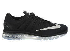 NEW MENS NIKE AIR MAX 2016 RUNNING SHOES TRAINERS BLACK / DARK GREY / WHITE